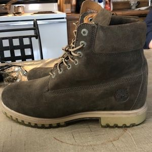 NEW dark olive green timberland boots